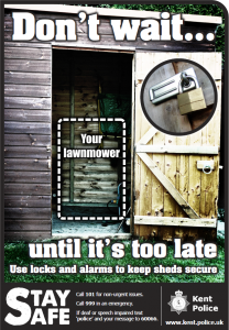 Shed Security Poster