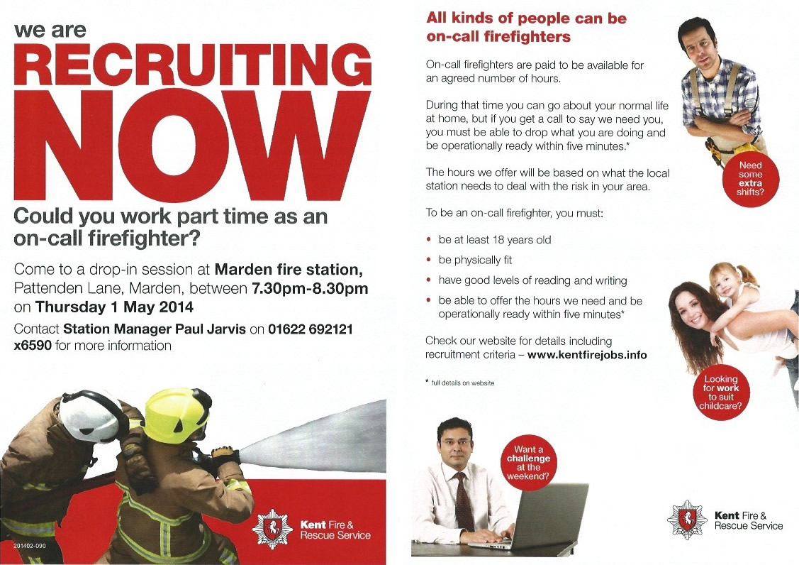 Marden Fire Station - Recruiting Now